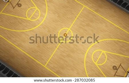 Basketball stadium on top, 3d - stock photo