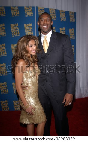 Basketball star KOBE BRYANT & wife VANESSA at the 16th Annual World Music Awards at the Thomas and Mack Centre, Las Vegas. September15, 2004 - stock photo