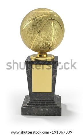 Basketball trophy - stock photo