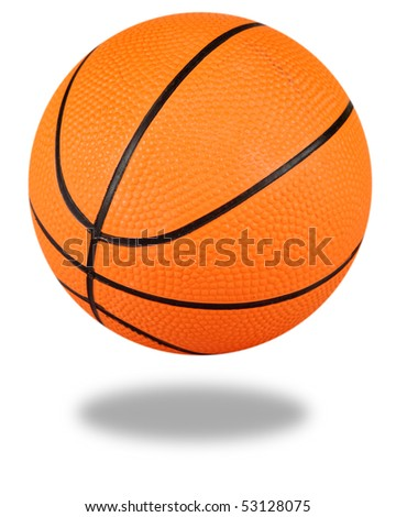 Basketball with clipping path - stock photo