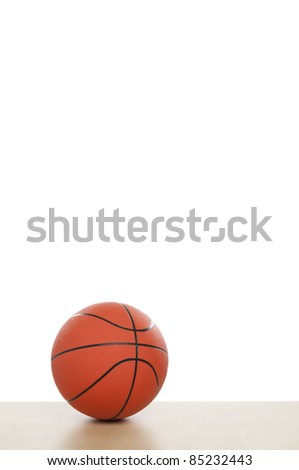 Basketball with White Background - stock photo