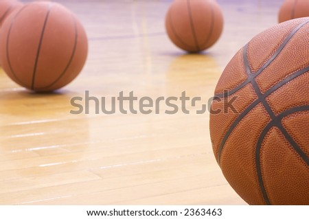 basketballs - stock photo