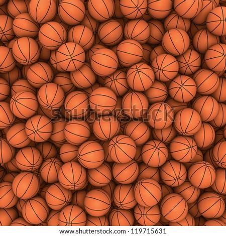 Basketballs background - stock photo