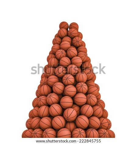 Basketballs peak - stock photo