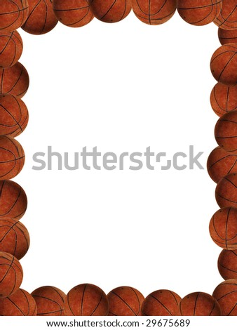 Basketballs Picture Frame