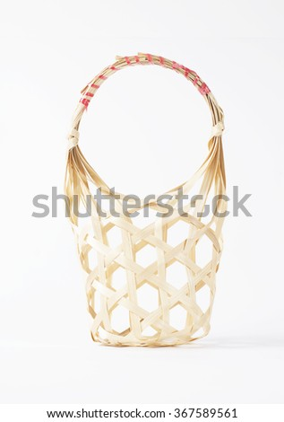 Baskets made of woven bamboo - stock photo