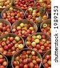 Baskets of apples - stock photo