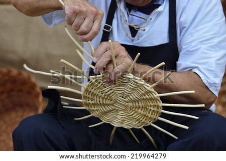 basketwork - stock photo