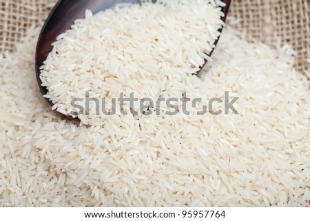 basmati rice - stock photo