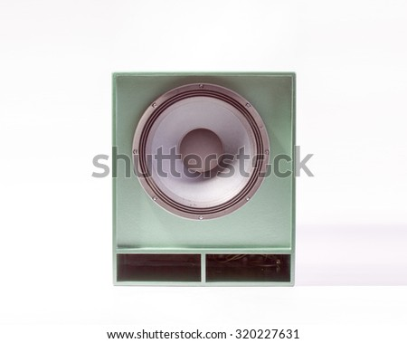 Bass amp on a white background - stock photo