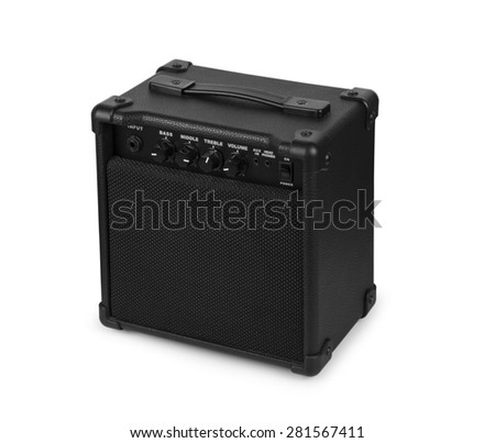 Bass amplifier isolated on a white background