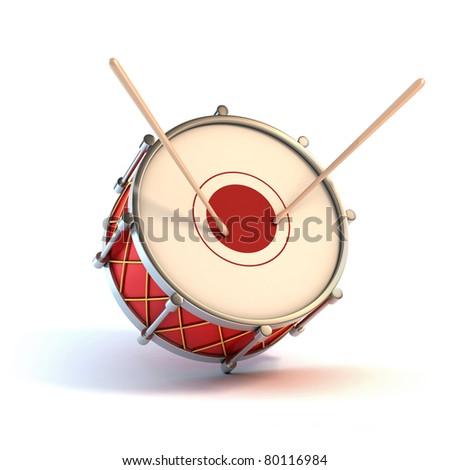 bass drum instrument - announcement 3d concept - stock photo