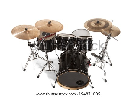 Bass Drum Kit isolated over white background - stock photo