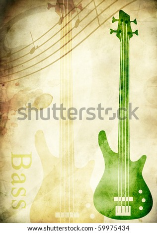 Bass guitar - stock photo