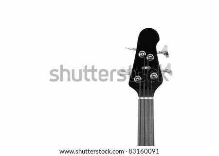 Bass guitar head - B&W - stock photo