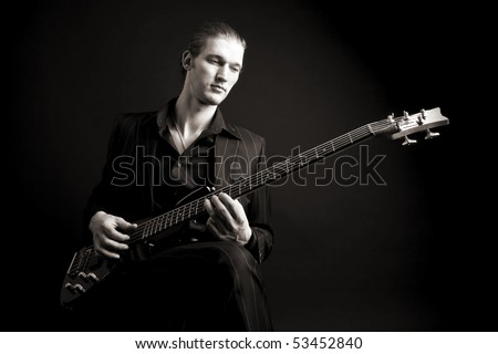 bass guitarist and his instrumnet