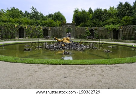 Bassin de l'Encelade - Versailles, France - stock photo