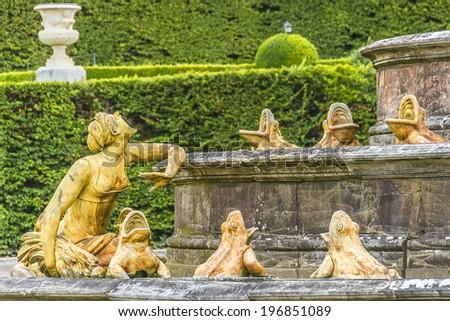 Bassin de Latone (Latona Fountain), Palace Versailles, Paris, France. - stock photo