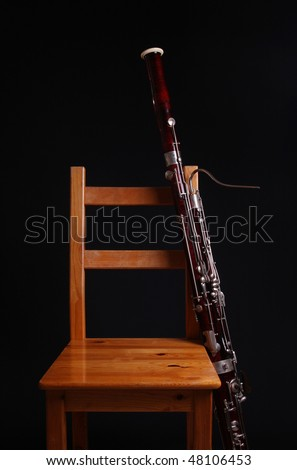basson and chair - stock photo