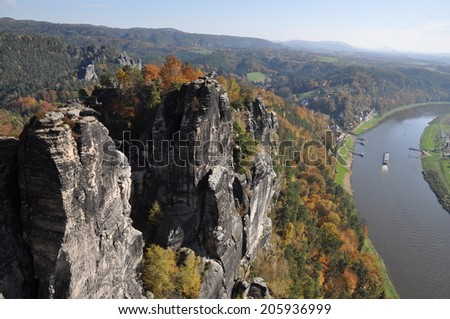 Bastei and Elbe, Saxony