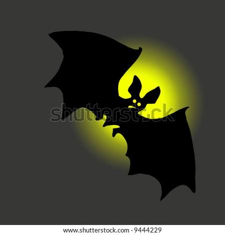 bat against moon - stock photo