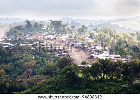 Batchuma a small city in Southern Ethiopia - stock photo