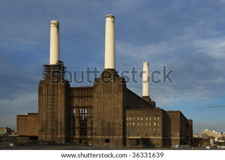 batersea powerplant - stock photo