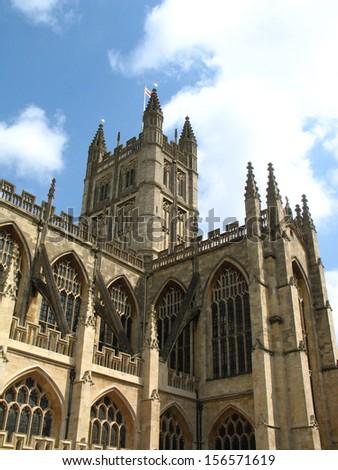 Bath Abbey in the city of Bath England - stock photo
