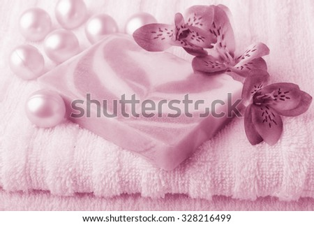 Bath accessories - stock photo