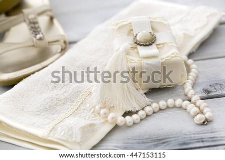 Bath Spa Accessories Soap Towel On Stock Photo 447153115 - Shutterstock