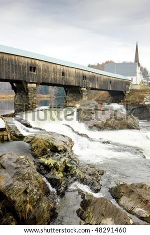 Bath Bridge (1832), New Hampshire, USA - stock photo