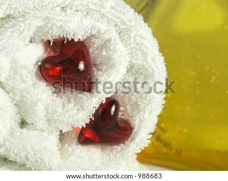 bath pearls - stock photo