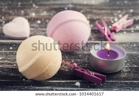 Bath Spa Accessories On Rustic Wooden Stock Photo 1014401617 ...