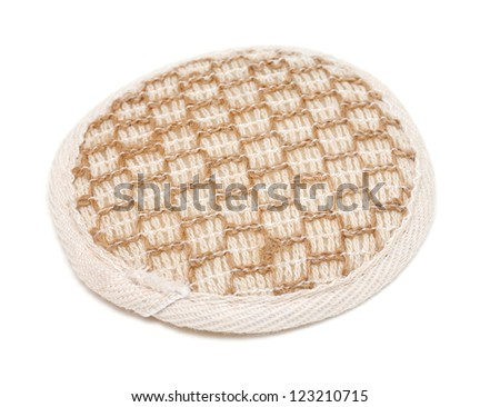 bath sponge isolated on white background - stock photo