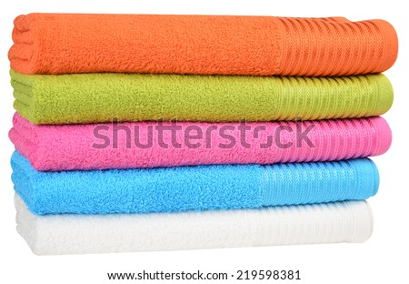 Bath towels. - stock photo