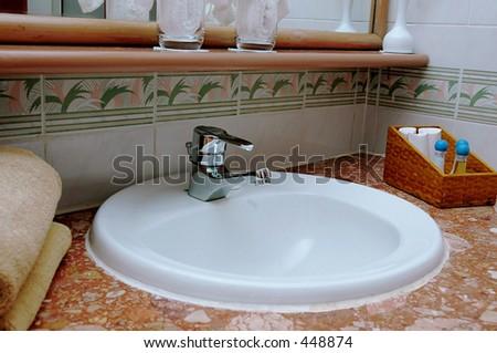 Bath tub - closer view - stock photo
