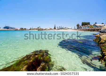 Bathers Beach is a popular destination for tourists and locals alike in Fremantle, Perth, Western Australia, Australia. Photographed: January 8th, 2018.