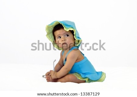 Bathing beauty - stock photo