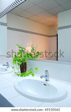 Bathroom at office - stock photo