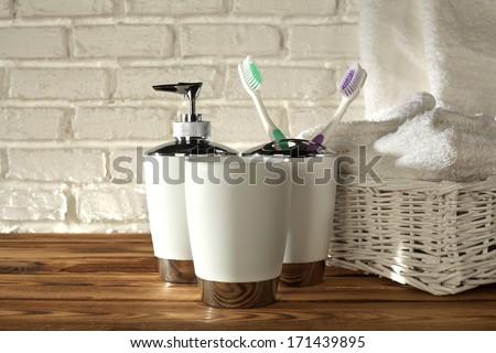 bathroom decoration  - stock photo