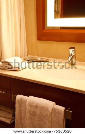 Bathroom detail - stock photo