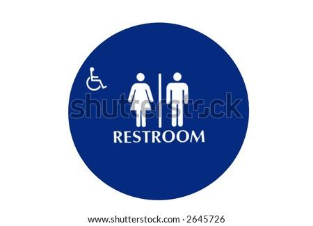 bathroom icon - stock photo