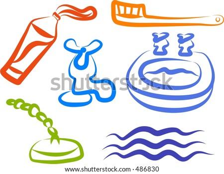 Coloring Book Kids Mermaid Swimming Depths Stock Vector