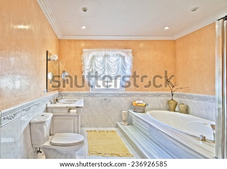 bathroom in a country style villa