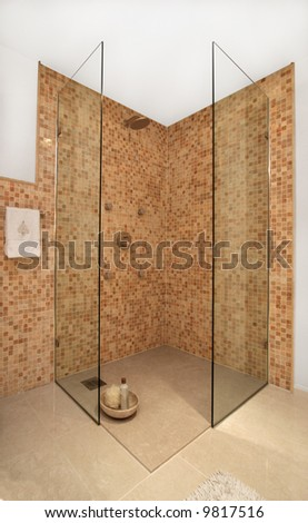 Bathroom in modern home - stock photo