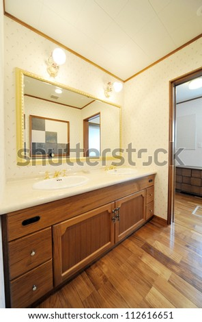 Bathroom in modern townhouse-2 -2 - stock photo