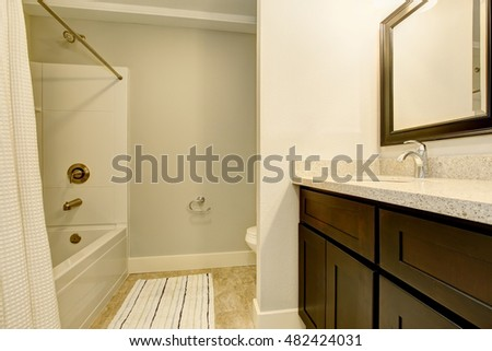 White Shutters Bathroom Window Stock Photo 167597747