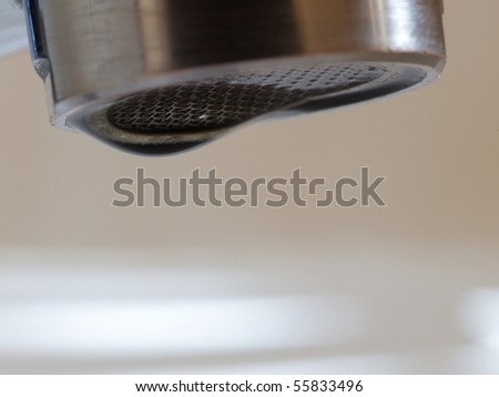 Bathroom interior with white sink and faucet - mixer tap - stock photo