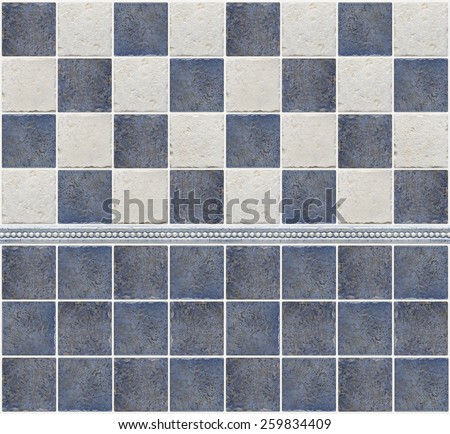 bathroom marble tile mosaic  - stock photo