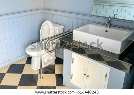 Bathroom Or Toilet For Disabled Person.